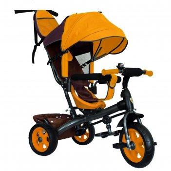 Велосипед трёхколёсный «лучик vivat 2», колёса eva 10/8, цвет коричневый/ж