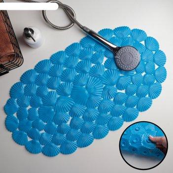 Spa-коврик для ванны 38х68 см ракушки цвет микс