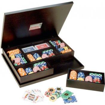 Набор для покера renzo romagnoli в деревянном кейсе, 260 фиш