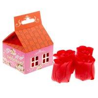 Набор мыльных лепестков 4 шт. в коробке домик с любовью