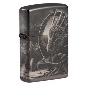 Зажигалка zippo lisa parker с покрытием high polish black, латунь/сталь, ч
