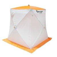 Палатка призма 150 (1-сл) стандарт композит, бело-оранжевая