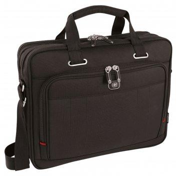 Портфель для ноутбука wenger 16, чёрный, 41x15x34 см, 12 л