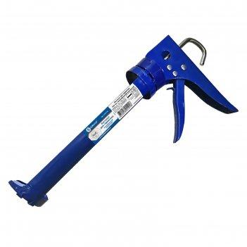 Пистолет для герметика кобальт 244-018, 310 мл, полуоткрытый, усиленный