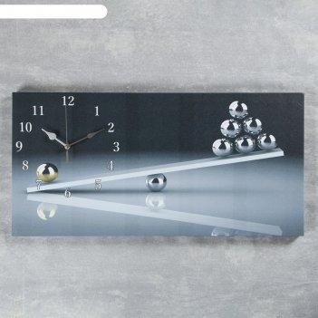 Часы настенные, серия: интерьер, на холсте весы, 40х76  см, микс