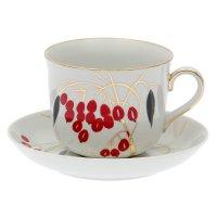 Чашка чайная 450 мл с блюдцем кизил