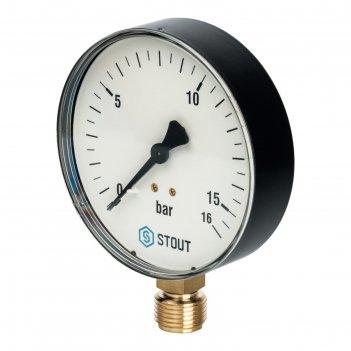 Манометр stout sim-0010-101615, радиальный, dn100, g1/2