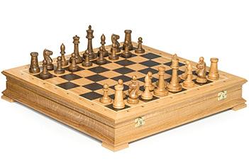 Шахматы стаунтон дуб, 44х44см