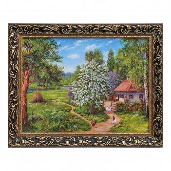 Картина дом среди деревьев   47х37 см