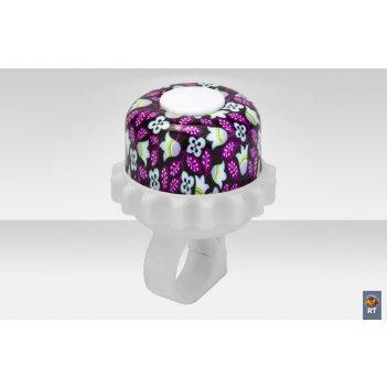 23r-08 звонок алюминий фиолетовые цветы