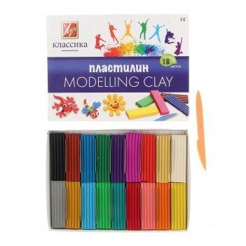 Пластилин 18 цветов классика