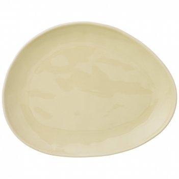 Тарелка обеденная meadow 29*23 см кремовая (кор=18шт.) мал.уп.=3шт