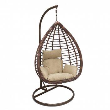 Подвесное кресло leset eagle brоwn ми, каркас коричневый, подушка кофейная