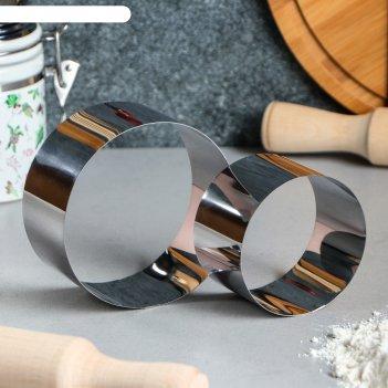 Набор форм для выпечки и выкладки круг, 10 х 10 х 5 см, 2 шт.