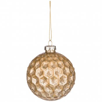 Декоративное изделие шар золотые грани диаметр=8 см (мал-12 шт./кор=96 шт.