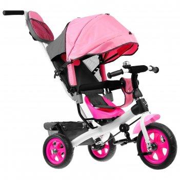 Велосипед трёхколёсный «лучик vivat 2», колёса eva 10/8, цвет розовый