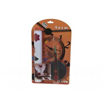 Часы настенные с декоративной наклейкой большое сердце 10х10х3