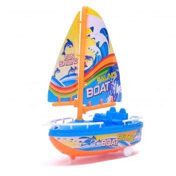 Парусник инерционный «яхта», цвета микс