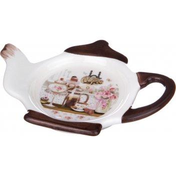Подставка под чайные пакетики coffee 13*9*2 см. (кор=144шт.)