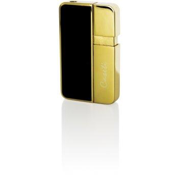 Зажигалка caseti газовая пьезо, сплав цинка, покрытие позолота