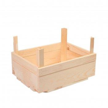 Ящик для овощей и фруктов, 40 x 30 x 25 см, деревянный, с ножками