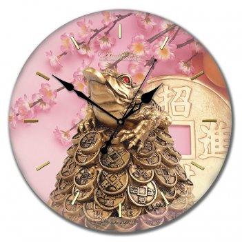 Настенные часы из стекла династия 01-008 богатство