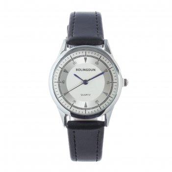 Часы наручные женские bolingdun 5152, d=3 см, экокожа, циферблат хром