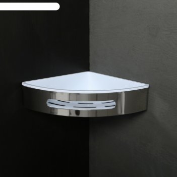 Полка угловая 31,2х23х6,4 см, нержавеющая сталь