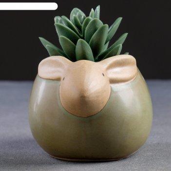 Кашпо керамическое кролик 11*9*8см