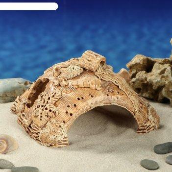 Аквадекор-грот для аквариума м120 губка большая