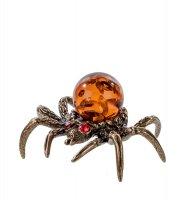 Am-504 фигурка паук мал. (латунь, янтарь)