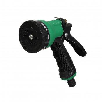 Пистолет-распылитель 6 режимов полива, эргономичная рукоять, фиксатор, шту