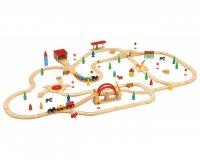 Конструктор железная дорога, 120 деталей