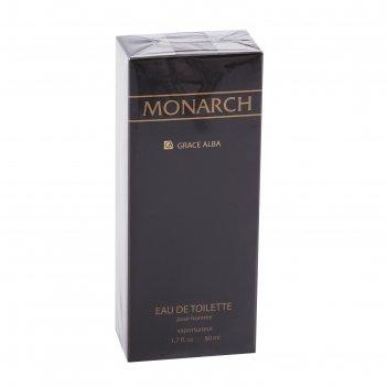 Туалетная вода для мужчин grace alba monarch, 50 мл