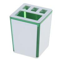 Подставка для зубных щеток spacy, зеленый