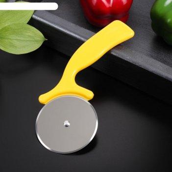 Нож для пиццы и теста радуга 16,5 см, цвета микс