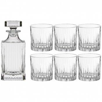 Набор для виски из 7 пр timeless штоф + 6 стаканов 800/300 мл высота=23/9