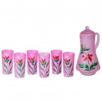 Набор радуга. лилия: кувшин 1,2 л, 6 стаканов 230 мл