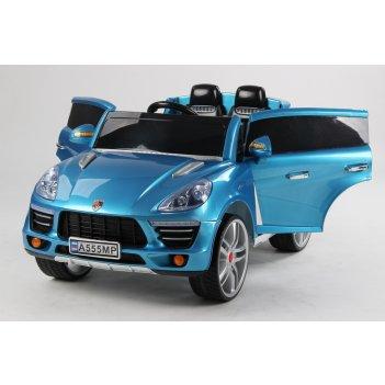 Электромобиль джип porsche а555мр vip голубой металлик new 2015