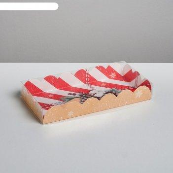Коробка для кондитерских изделий с pvc крышкой «волшебных моментов», 21 х