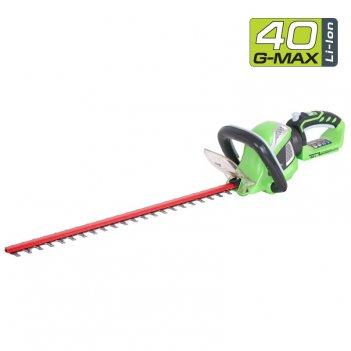 Кусторез аккумуляторный 60 см greenworks 40v g40ht61, садовая техника