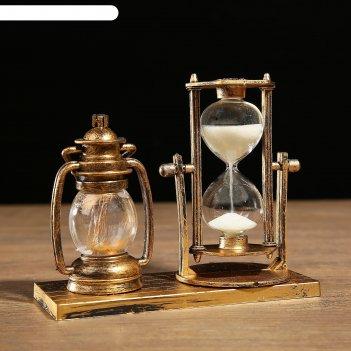 Часы песочные керосин с подсветкой, 15.5х6.5х12.5 см, микс