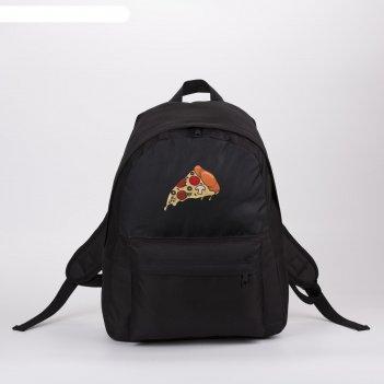 Рюкзак молод пицца, 33*13*37, отд на молнии, н/карман, черный