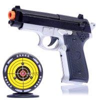 Электронный тир с пистолетом стрельба по мишени, световые и звуковые эффек