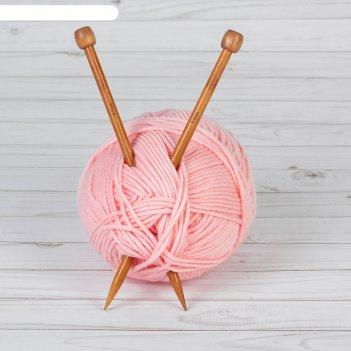 Спицы для вязания, прямые, d = 9 мм, 25 см, 2 шт