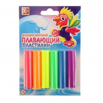 Пластилин плавающий 6 цветов флуоресцентный
