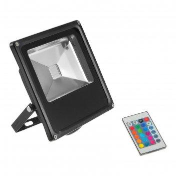 Прожектор светодиодный серия slim 50w, ip66, 4500lm, rgb