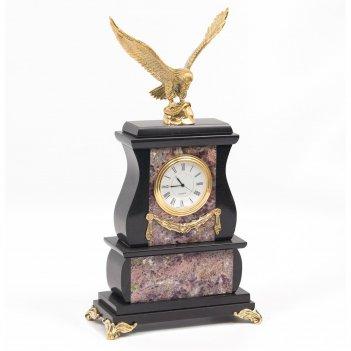 Часы орел флюорит бронза