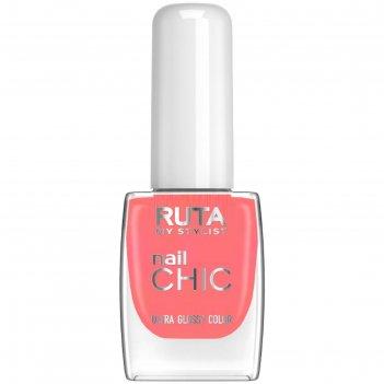 Лак для ногтей ruta nail chic, тон 13, фламинго