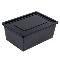 Ящик универсальный для хранения с крышкой, объем 30л. цвет: черный